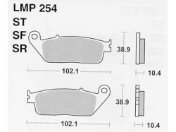Колодки APRacing LMP254 ST