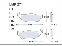 Колодки APRacing LMP271 ORR
