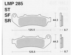 Колодки APRacing LMP285 ST