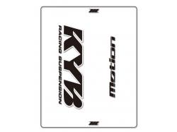 Наклейка на вилку KYB Black/White MO52-0118