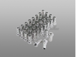 Комплект ниппелей Honda CRF/CRM/XL/XR; Yamaha DT/XT225/250 36шт Silver W31-P2368H